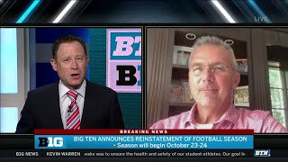 It's Great News  Urban Meyer on Big Ten Football Coming Back
