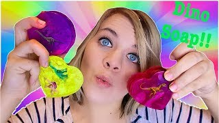 DIY DINOSAUR SOAPS! Easy Kids Experiment -- Do It Yourself Soaps! // SoCassie
