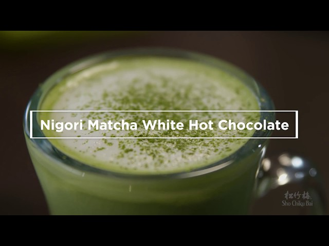 How to make sake cocktails - Sho Chiku Bai - Nigori Matcha White Hot Chocolate