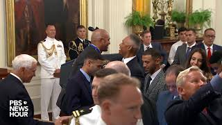 WATCH: Trump presents Medal of Freedom to Mariano Rivera, famed Yankees pitcher