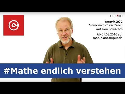 Mathe online lernen - mit Jörn Loviscach - #mevMOOC Trailer