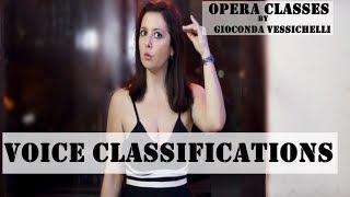 Voice classifications GIOCONDA VESSICHELLI international opera pop singer