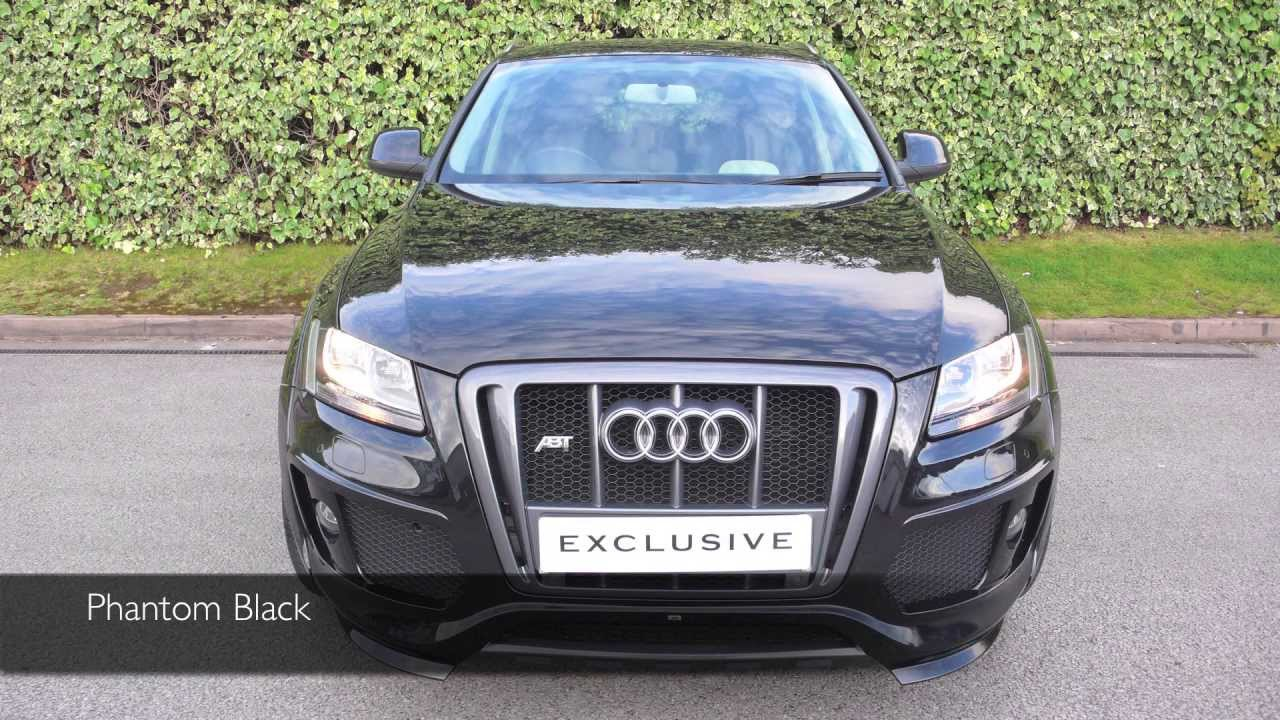 exclusive cars gb audi abt q5 phantom black youtube. Black Bedroom Furniture Sets. Home Design Ideas