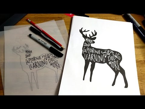 How to DRAW HAND LETTERING inside an OBJECT - Tutorial