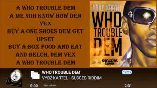 VYBZ KARTEL - WHO TROUBLE DEM LYRICS 2016 ᴴᴰ