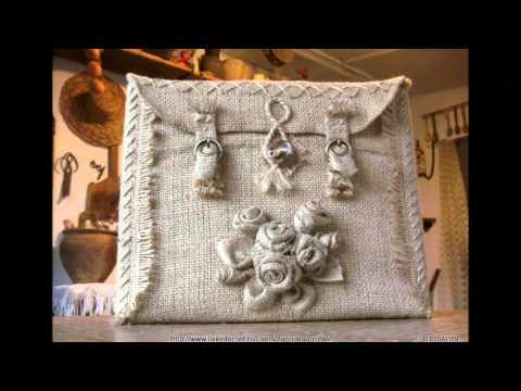 de41bd0ff36e Модные сумки своими руками - сумки из мешковины - YouTube