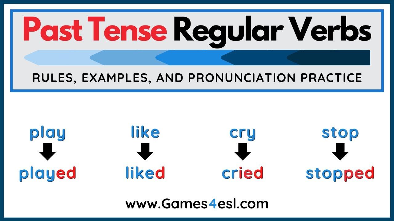 hight resolution of Regular Past Tense Verbs   Simple Past Tense Rules