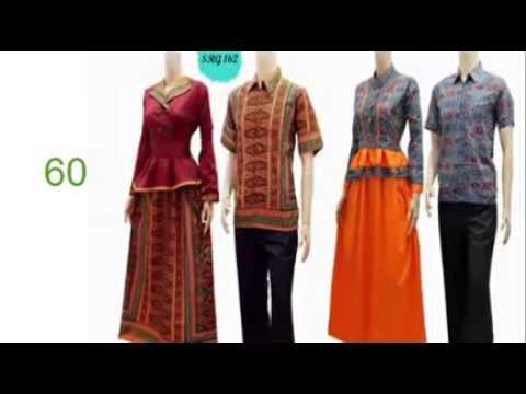 trend gamis batik model baju batik wanita semi jas youtube