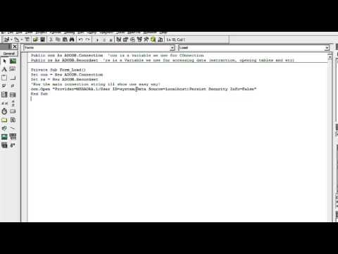 VB6 and Oracle Connection using Connection String! - YouTube