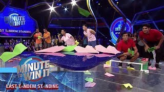 Frequent Flyer | Minute To Win It - Last Tandem Standing