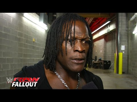R Truth Lets A Ladder Know Whats Up Raw Fallout June 8 2015