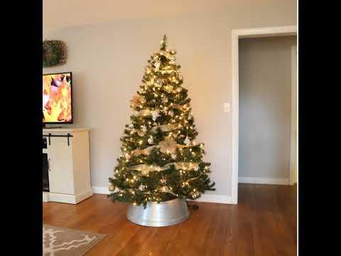 Mixed Metals Neutral Farmhouse Christmas Tree