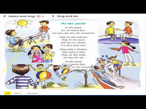 Unit 5 Song At the park (Family and friends 1)// luyện nghe tiếng Anh
