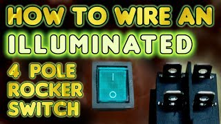How To Wire An Illuminated 4 Pole Rocker Switch Kcd4 By Vog Vegoilguy Youtube
