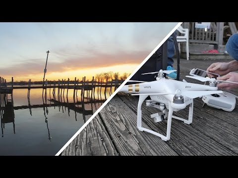 INCREDIBLE DRONE SUNSET OVER WATER