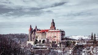 Kotlina Kłodzka Zimą | Zamek Książ | Strzeliniec | Wielka Sowa | DRON [4K]