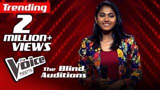 Madhuvy Vaithialingam | Unakkena Naan | Blind Auditions | The Voice Teens Sri Lanka