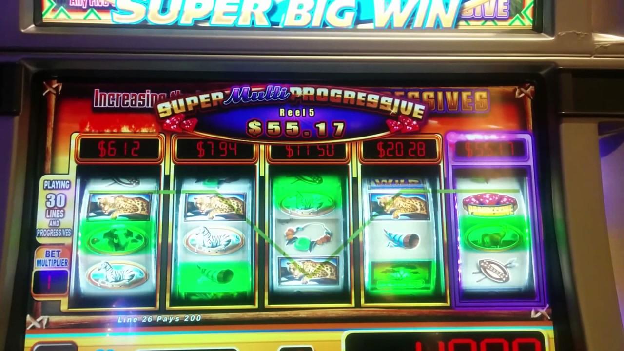 Progressive slot machine winner