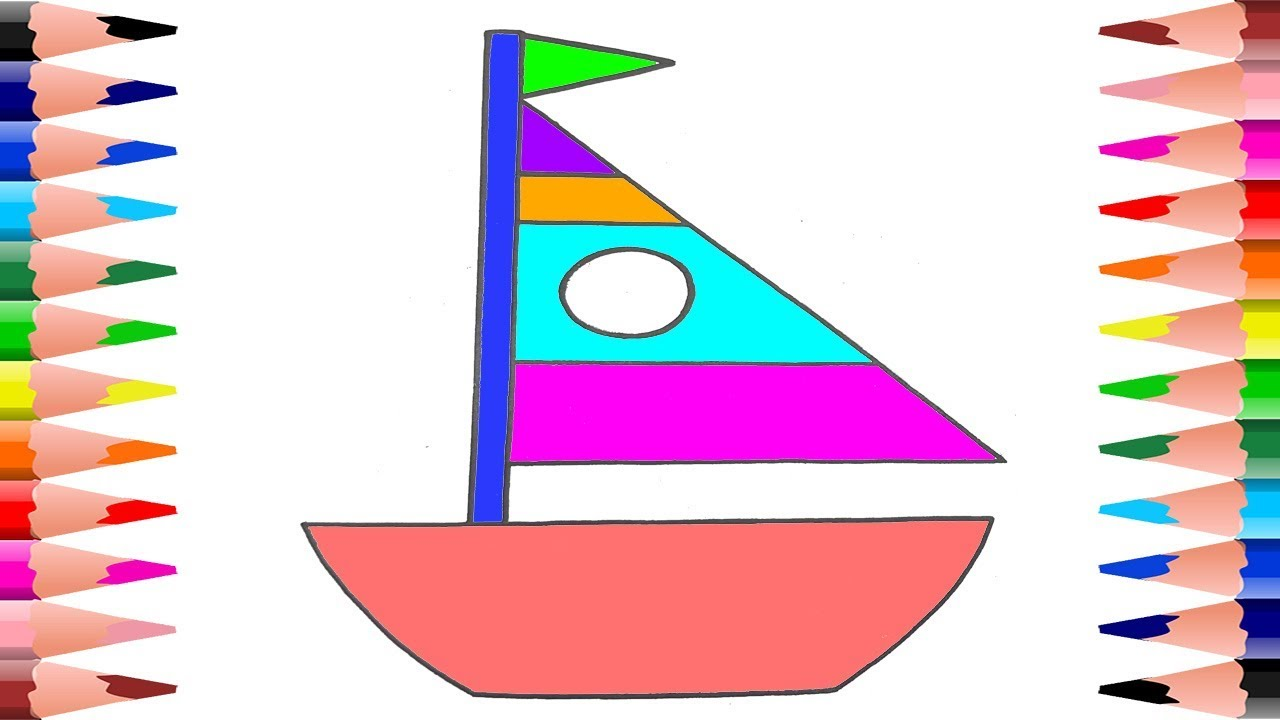 Boat Coloring Pages For Toddlers Learn Painting Boats In Coloring