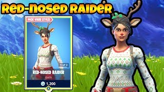 The *RED NOSED RAIDER* SKIN Is Back In The Item Shop!!! Fortnite Daily Item Shop!!!