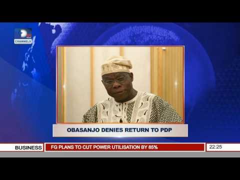 News@10: Obasanjo Debunks Rumour Of Return To PDP 06/08/16 Pt.2