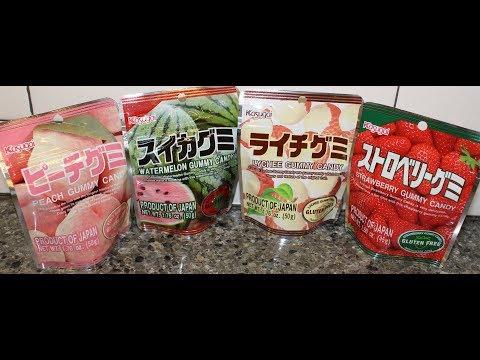 Kasugai Japanese Fruit Gummy Candy: Peach, Watermelon, Lychee & Strawberry Review