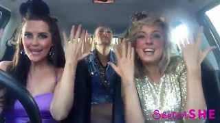 3 девушки поют в машине 2015 3 Model Girls Singing In A Car 2015 Mime Through Time By SketchSHE