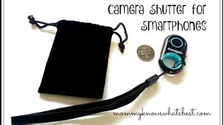 Bluetooth Remote Control Camera Shutter for Smartphones or Tablets