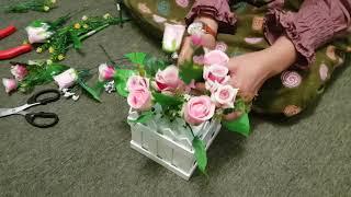 Merangkai Bunga Sederhana