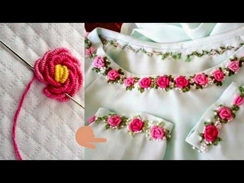 Easy Neck Embroidery Designs For Kurtis | Neck Embroidery Designs Salwar Kameez