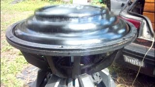 Bs5 V2 High Excursion Custom 15'' subwoofer insane !