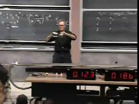 Lec 16: Elastic and Inelastic Collisions | 8.01 Classical Mechanics, Fall 1999 (Walter Lewin)