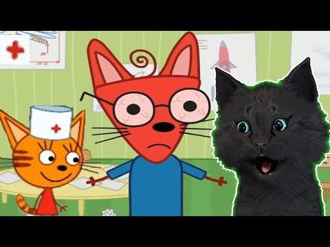ТРИ КОТА ЛЕЧАТ ДРУЗЕЙ С ГОВОРЯЩИМ СУПЕР КОТОМ ( ИГРА для ДЕТЕЙ ) Три Кота: Детский Доктор