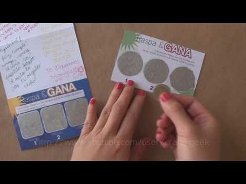 Carta RASPA&GANA // idea regalo - dia del...