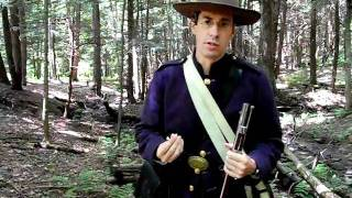 FIRING THE 1861 RIFLE MUSKET