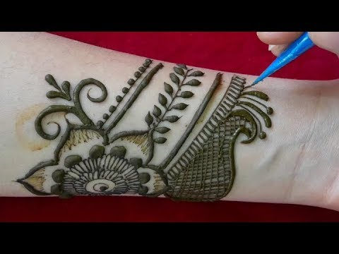 Full Hand Bridal Mehendi Design Front Hand Mehndi Design 2019 New Style Simple