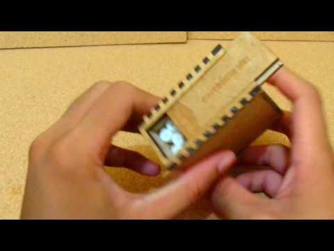 Swiping Wooden Cigarette Box - Laser Cut