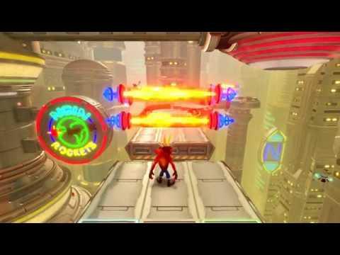 New Crash Bandicoot Level: Future Tense (Both Gems, No Damage)