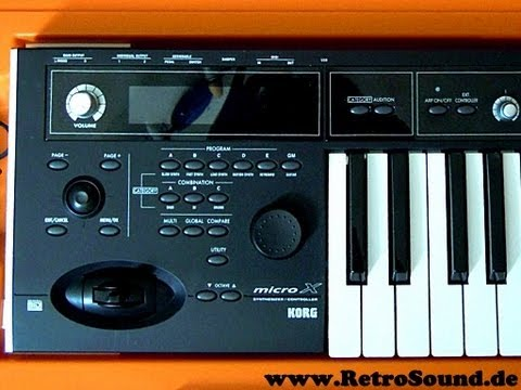 korg microx synthesizer arps beats youtube. Black Bedroom Furniture Sets. Home Design Ideas