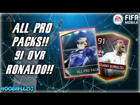 FIFA Mobile All Pro Pack Opening 91 OVR RONALDO!!