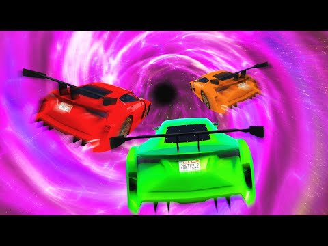 HIGH SPEED SPACE WARP TUNNEL! (GTA 5 Funny Moments)