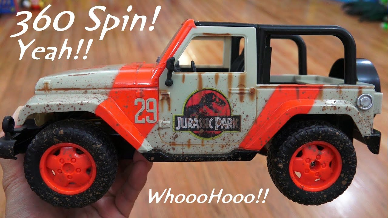 rc jeep wrangler jurassic park edition playtime jurassic. Black Bedroom Furniture Sets. Home Design Ideas