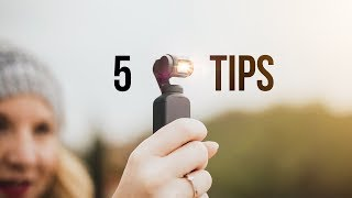 DJI OSMO POCKET! 5 TIPS for SMOOTHER CINEMATIC VIDEOS! VLOG WITH STYLE!