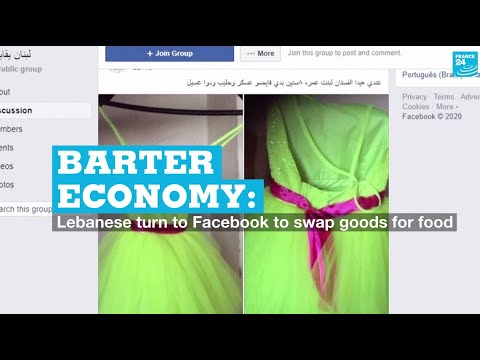 Barter economy: Lebanese turn to Facebook to swap goods for food