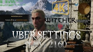 Witcher 3 UBER settings in 4K resolution + fps count | PC ultra