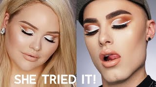I tried following a NikkieTutorials makeup tutorial! I love this tr...