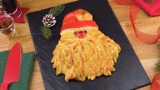 Weihnachtsmann Hefezopf ist ein Brot Rezept in ganz besonderer Optik.