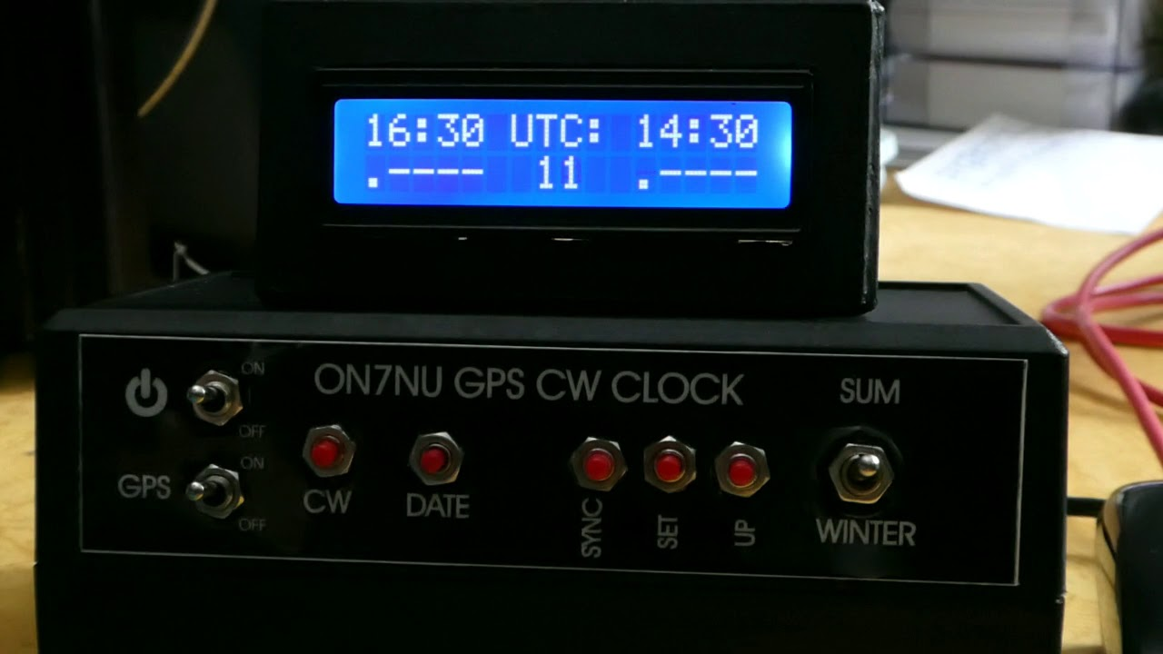 Arduino CW clock with GPS and RTC ds3231