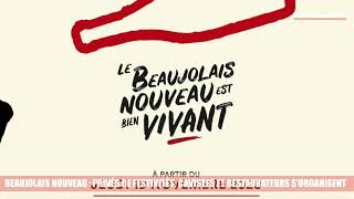 Beaujolais Nouveau : privés de festivités, cavistes et restaurateurs s'organisent