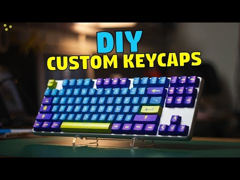 How to Make CHEAP Custom Keycaps!
